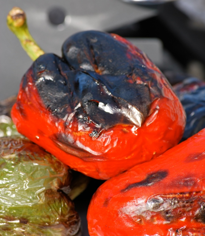 Charcoal-grilled Peppers